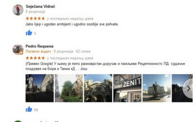 GUESTS FROM ALL OVER THE WORLD ASSESSED STAY IN THE HOTEL ZENIT WITH HIGHEST RATINGS